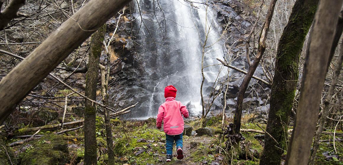 40 meter vattenfall i närheten av Kungälv